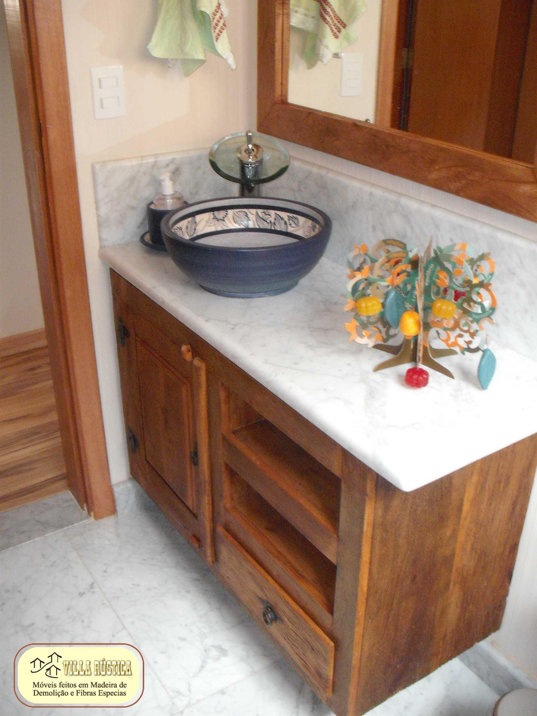 Bancada gabinete para lavabo vila r stica for Gabinete para lavabo