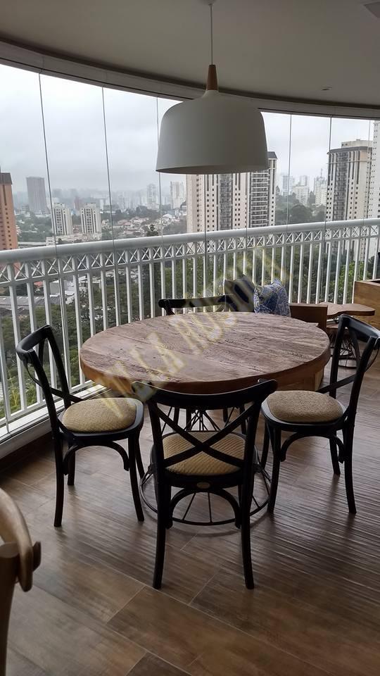Varanda Madeira de Demolição - Chácara Flora