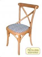 Cadeira Cross Natural Tecido