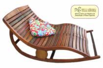 Chaise espreguiçadeira para Piscina em Madeira de Demolição