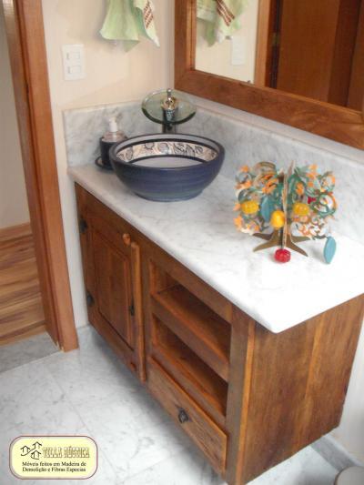 Bancada Gabinete para lavabo