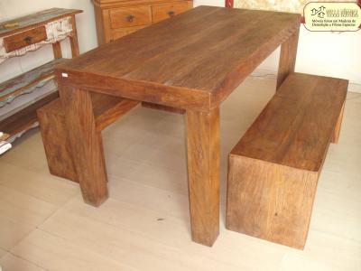 Mesa Grampo - peroba - madeira demolição