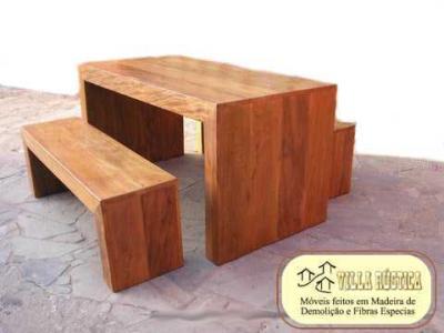 Mesa Prancha - peroba - madeira demolição